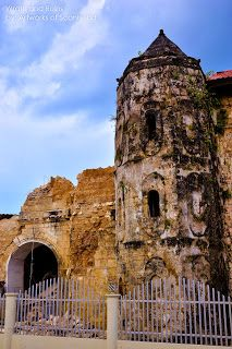 Loboc Church ruins in Bohol - Ruins after the 7.2 magnitude earthquake hit the province of Philippines