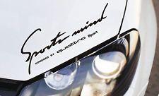 Sports Mind Sticker fits Audi Quattro A3 A4 A5 A6 A7 A8 TT Q5 Q7 Emblem Logo B
