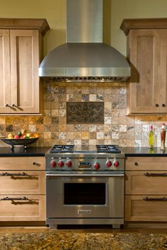 Range Wall - traditional - kitchen - other metro - Kitchens Unlimited- Karen Kassen, CMKBD