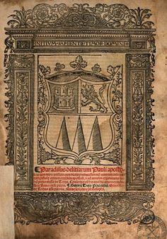 Paradisus Delitiarum Pauli Apostoli por fray Trejo Gutierre