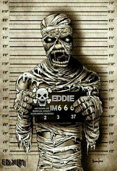 Iron Maiden Album Covers, Iron Maiden Albums, Heavy Metal Art, Heavy Metal Bands, Iron Maiden Mascot, Iron Maiden Posters, Eddie The Head, Metallica Art, Tribute
