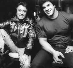 Bill Bixby and Lou Ferrigno