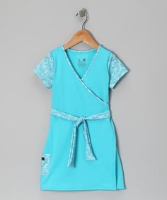 Take a look at this Turquoise Faux Wrap Dress - Infant, Toddler & Girls by Züpers on #zulily today!