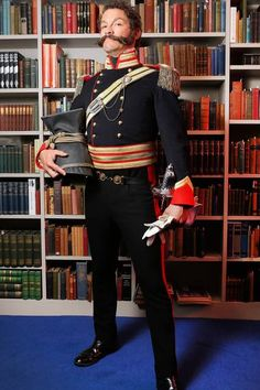 Actor Dominic West as Sir Harry Flashman