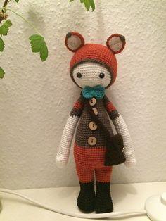 FIBI the fox made by Bettina L. / crochet pattern by lalylala