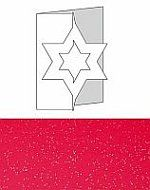 4 Christmas Star Glitter Red color $7.00