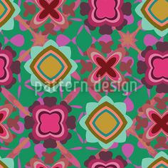 Boogie On The Flor Seamless Pattern Round Tablecloth, Vector Pattern, Table Linens, Surface Design, Floral Design, Pure Products, Make It Yourself, Retro, Fun