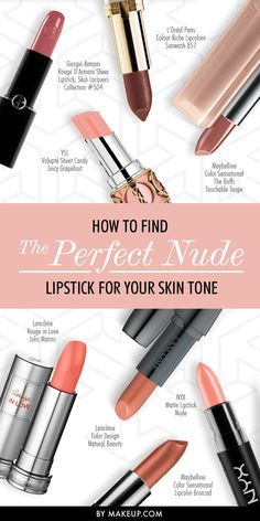 Find the perfect nude lipstick for your skin tone!