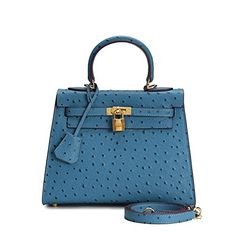 House Of Hello Women's Genuine Leather KL Style Ostrich Grain Top-handle-bags Medium Blue 25CM House Of Hello http://www.amazon.com/dp/B012CMGKGG/ref=cm_sw_r_pi_dp_fWCPwb1XPGPT3