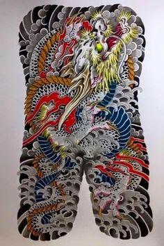 Túcon Japanese Back Tattoo, Japanese Dragon Tattoos, Asian Tattoos, Back Tattoos, Tatoos, Koi Fish Tattoo, Snake Tattoo, Chest And Back Tattoo, Dragon Tattoo Art