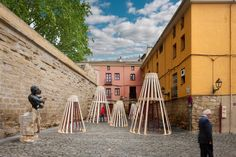 Gallery of Wooden Installation in Logroño is a Tribute to Spanish Wine - 4