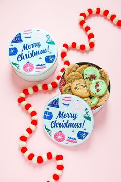 Diy Cookie Tin Free printable - Baby Stuff and Crafts Christmas Labels, Christmas Cookies, Christmas Time, Christmas Crafts, Christmas Ideas, Date Cookies, Cut Out Cookies, Chocolate Filling, Label Paper