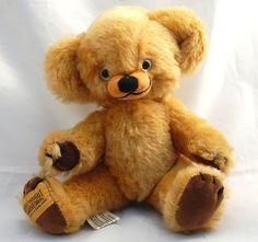 "Vintage 1980s Merrythought Mohair Cheeky Teddy Bear 8"" England Jingle Ears  #Merrythought"