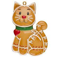 Gingerbread Cat Ornament