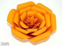 Nagyméretű papírvirág - Manó kuckó Silicone Molds, Paper Flowers, Rose, Pink, Roses, Tissue Flowers, Pink Roses