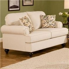 Shop for the Belfort Essentials Sterling Traditional Loveseat With Rolled Arms at Belfort Furniture - Your Washington DC, Northern Virginia, Maryland and Fairfax VA Furniture & Mattress Store Traditional Sofa, Traditional Furniture, Tidy Room, Home Theater Furniture, Belfort Furniture, Home Theater Seating, Room Planning, Sit Back And Relax, Upholstered Furniture