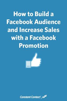 How to Build a Facebook Audience and Increase Sales with a #Facebook Promotion #socialmedia