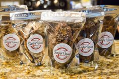 Makes the perfect gift! Three, one-half-pound bags of buttery, rich and chocolaty Tasty Good Toffee, handmade in Lincoln, Nebraska. Buy this gift. Holiday Gifts, Christmas Gifts, Toffee, White Chocolate, Frozen, Tasty, Lincoln Nebraska, Classic, Handmade
