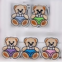 1PC~SMALL TEDDY BEAR GIFT BOX~IRON ON EMBROIDERY PATCH