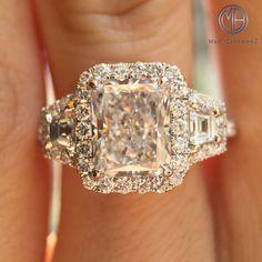 2.40ct Radiant Cut Diamond Engagement Ring