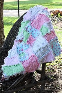 Sweet Rag Quilt for a Baby.   Excellent detailed instructions on the website.