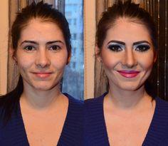 satisfação no trabalho de uma maquiadora, é poder ver o quão feliz você tornou sua cliente. #renove #seame #voceehlinda #vemdaumaolhadinha
