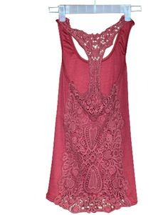 Free Shipping !!!Women Sexy Crochet Eyelet Lace Back Cami Vest (M ,Wine Red)-in Tank Tops from Women's Clothing & Accessories on Aliexpress.com | Alibaba Group
