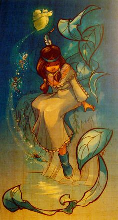 Tiger Lily and fairies- the art of Disney Princesses. This would be a great tattoo