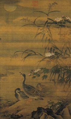Autumn Shoals and Waterfowl  Lü Ji (circa 1429-1505), Ming dynasty.