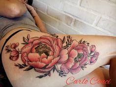 Flores muslo tattoo  By Carlo Conci Tattoos, Instagram Posts, Thighs, Flowers, Tatuajes, Tattoo, Tattos, Tattoo Designs