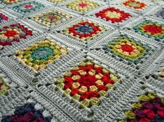 Granny squares by Little Tin Bird blogger