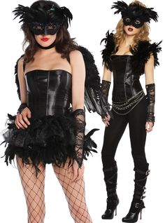 Need a costume ASAP? Mask + gloves, bustier, tutu and stockings or leggings = instant RAVEN-ous! We love how you can create totally different looks from the same collection ... Click for more custom mix-n-match costume ideas!