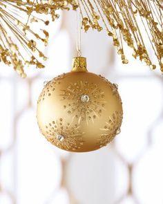 Decorating Christmas Balls Glass Shinygold Ball Christmas Ornament $42 ❤ Liked On Polyvore