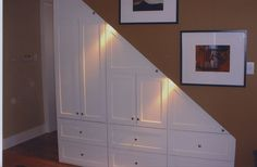 under stair storage done by Moyer woodworks, Salt Lake City, UT