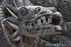 Quetzalcoatl sculpture