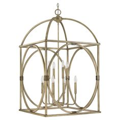 Illuminate your foyer or dining room in elegant style with this eye-catching metal pendant, featuring an openwork design and surrey finish. ...