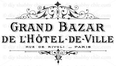 A6-FRENCH-FURNITURE-DECAL-SHABBY-CHIC-IMAGE-TRANSFER-VINTAGE-LABEL-GRAND-HOTEL
