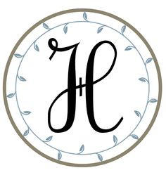 Letter H. Free printable monograms from The Hand Me Down House. great for bottle cap jewelry, glass tile jewelry & fridge magnets too! #ecrafty