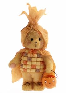 Cherished Teddies Bear Dressed as Indian Corn Figurine