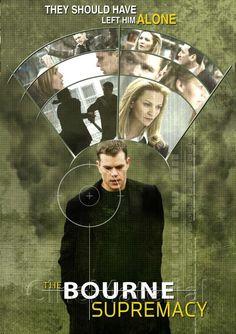 The Bourne Supremacy 2004 Poster New Movies, Good Movies, Matt Damon Jason Bourne, James Bond Characters, Bourne Movies, Bourne Supremacy, Bourne Legacy, The Bourne Identity, Movie Covers
