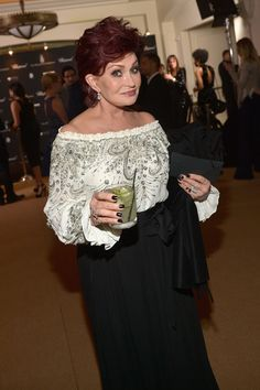 Sharon Osbourne enjoyed a beverage. - Highlights from the Hottest Oscar Pre-Parties 2014 - Zimbio