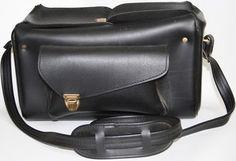 Vintage Womans Bag Camcorder Camera Case Real Retro 70's Handbag Tote Shoulder.£9.77
