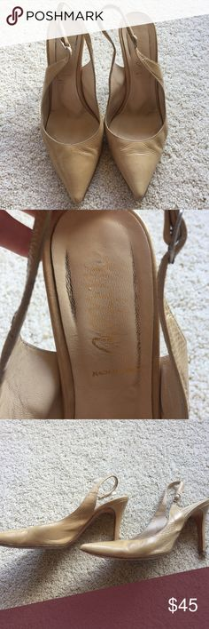 Butter Patent leather pointy toe heels nude 8.5 Good condition heels by Butter. Damage is documented in photos. Open to offers. Butter Shoes Shoes Heels