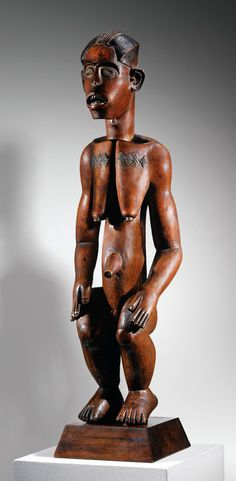Africa | Statue from the Fang Mabea people of Cameroon | Wood. H: 67.5 cm | ca. early 19th century || Sold for 4'353'500€ ~ June 2014 (Sotheby's Paris)