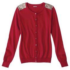 Merona® Women's Cardigan Sweater w/Sequin Shoulder Detail - Assorted Colors