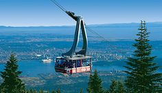 Grouse Mountain Gondola view of Vancouver, BC I grew up at the foot of this mountain. I remember watching this gondola being built. Vancouver Seattle, Canada Vancouver, Vancouver Travel, Vancouver Island, Vancouver Vacation, Toronto, Sunshine Coast, British Columbia, Quebec