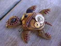 Steampunk turtle. Sold.