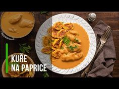 Kuře na paprice - Recept na nejen Paleo snadno Fajitas, Thai Red Curry, Paleo, Low Carb, Gluten, Healthy Recipes, Ethnic Recipes, Food, Youtube