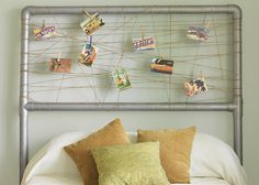 MUST DO IN GUEST ROOM! All of our Route 66 post cards from the honeymoon, our Route 66 signs...so many ideas! #headboard