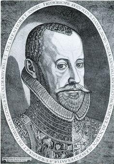 KING FREDERIC II, 1582, DANO - GERMANIQUE
